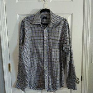 Cafe cotton plaid dress shirt size 16.5